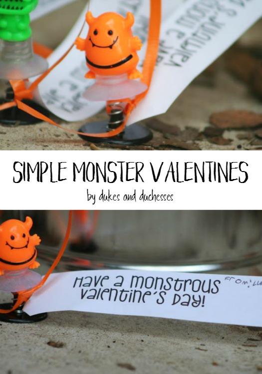 simple monster valentines