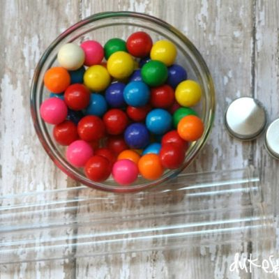 Rainbow Gum in a Tube {for St. Patrick's Day}