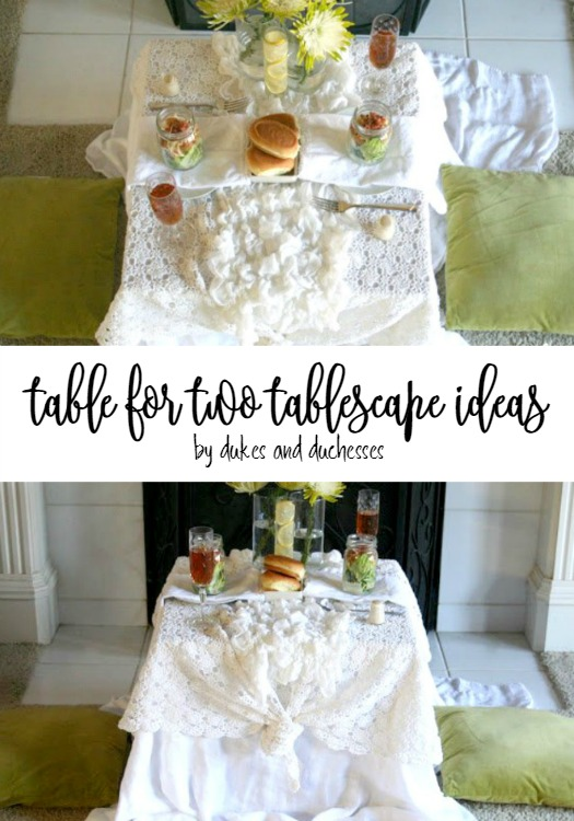 table for two tablescape ideas