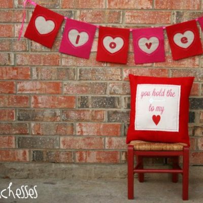 A Valentine Banner and Pillow