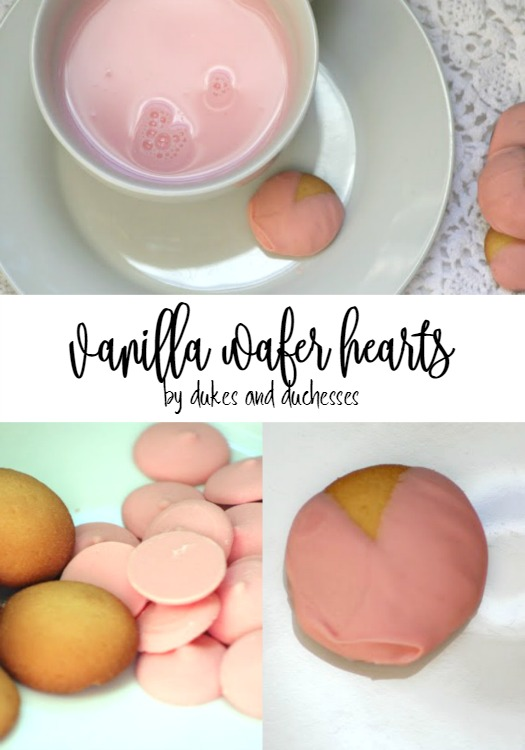 vanilla wafer hearts