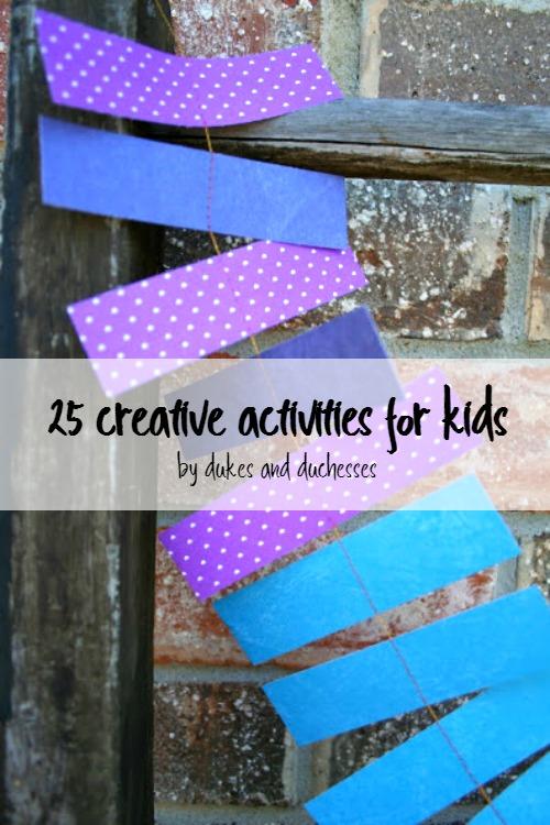 creative activities for kids
