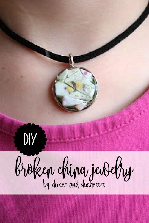 DIY broken china jewelry
