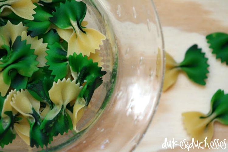 DIY edible colored pasta