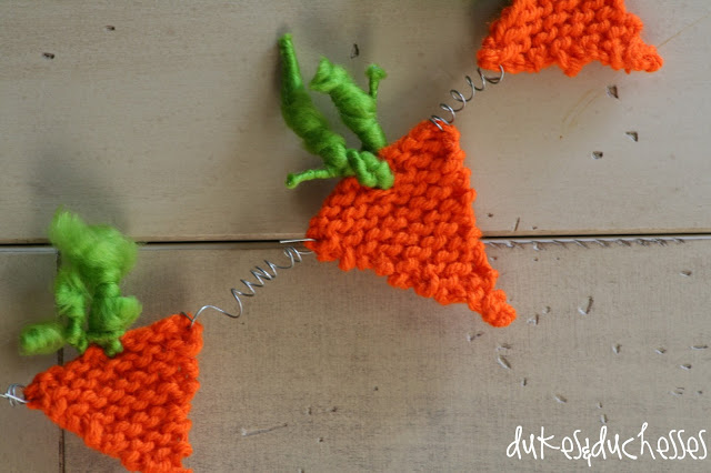 knit easter garland
