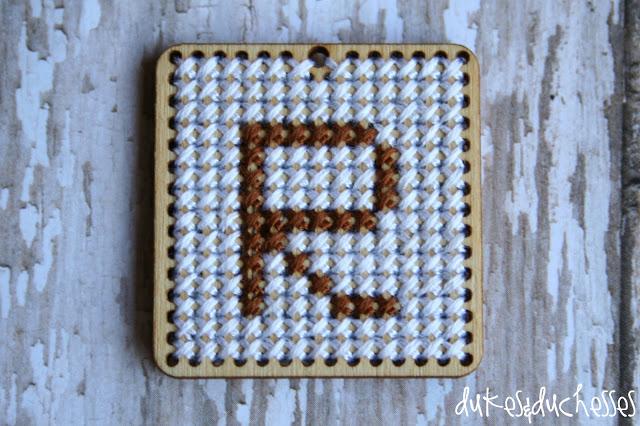 monogrammed pendant