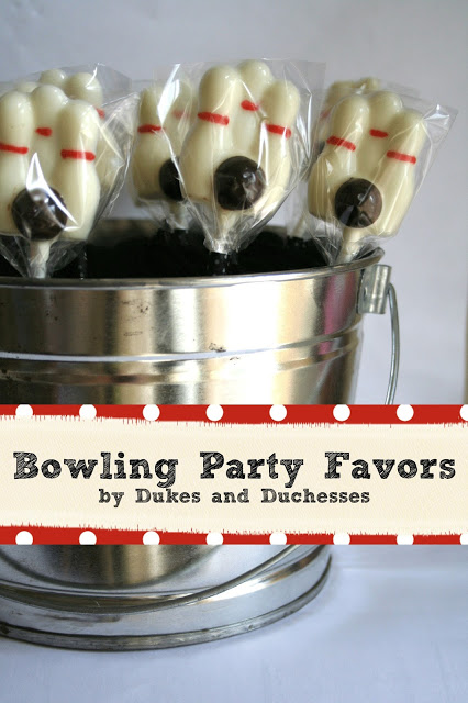 bowling party, party favors