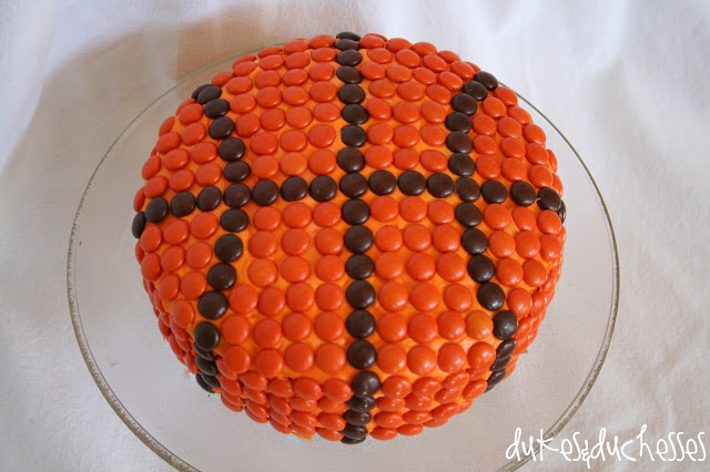 A Basketball Cake - Dukes and Duchesses