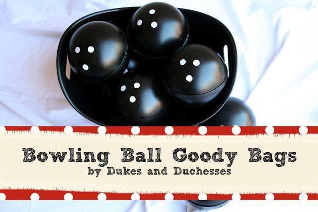 bowling party, bowling ball goody bags