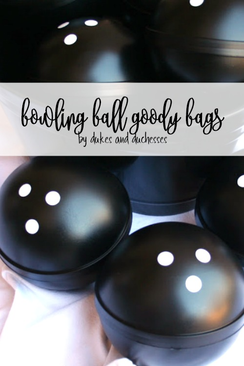 bowling ball goody bags or party favors