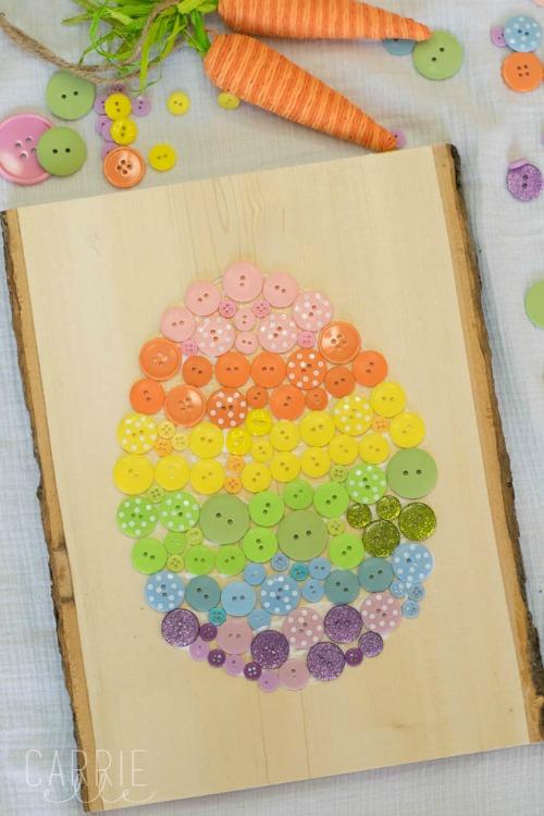 button egg craft