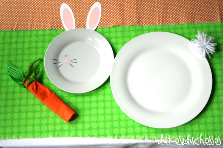 easter bunny tablecape for kids