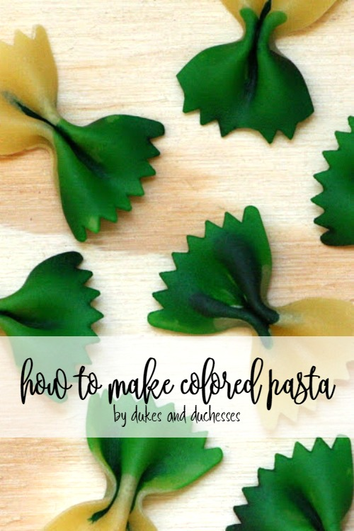 how to make colored pasta