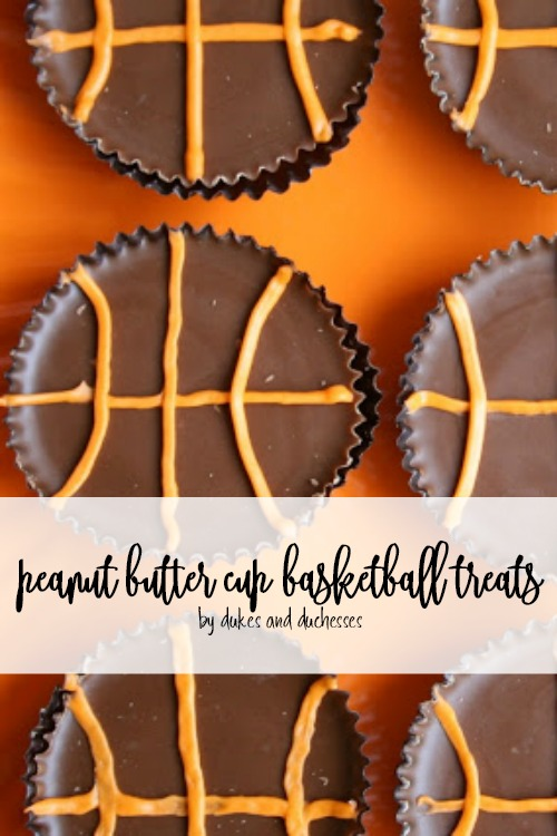 peanut butter cup basketball treats