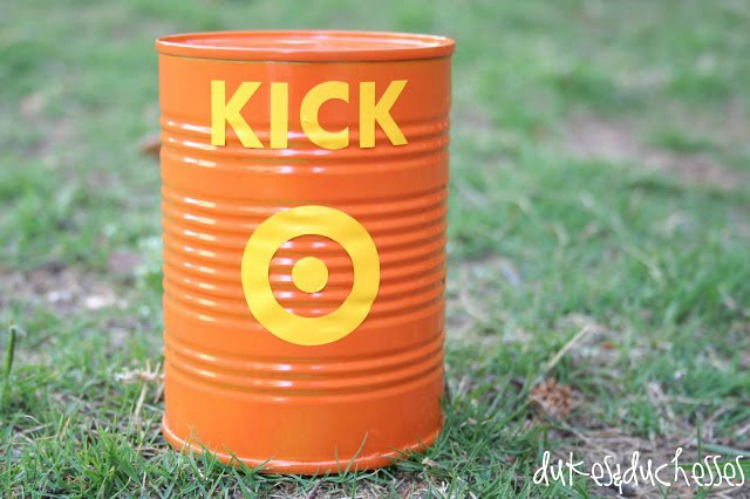 DIY can for kick the can game