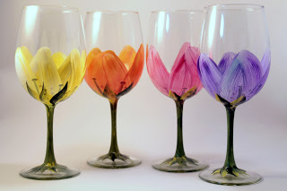 wine glass painting party ideas pictures to pin on pinterest - Wine Glass Design Ideas