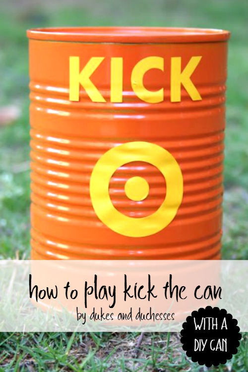 how to play kick the can with a DIY can
