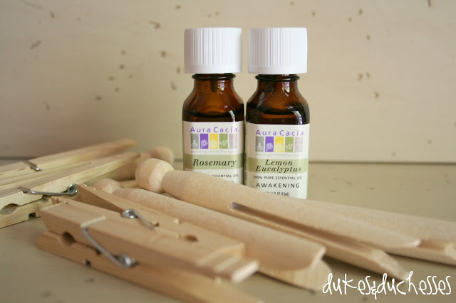 infused scented clothespins