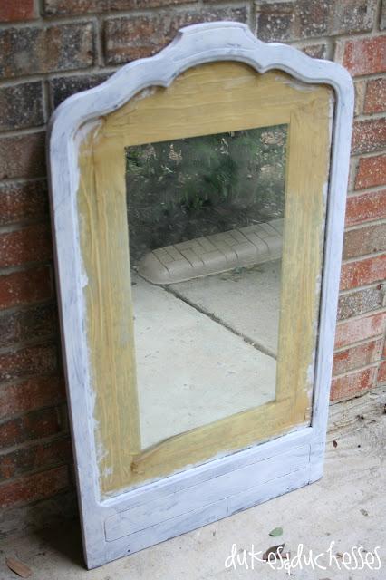 trash to treasure vintage mirror