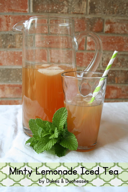 minty lemonade iced tea