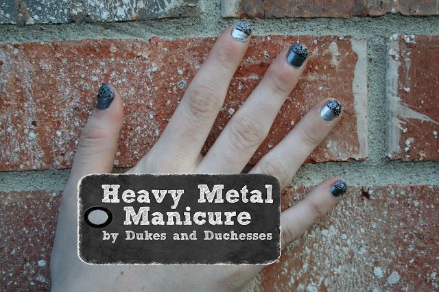 A Heavy Metal Manicure #IHeartMyNailArt