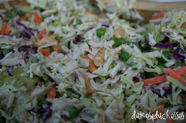 cashew coleslaw salad {a summer recipe}