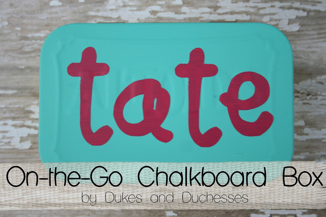 upcycled, repurposed mint tin: chalkboard box