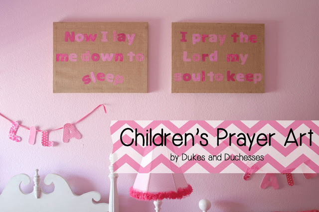 Children's Prayer Art {Silhouette Promotion}