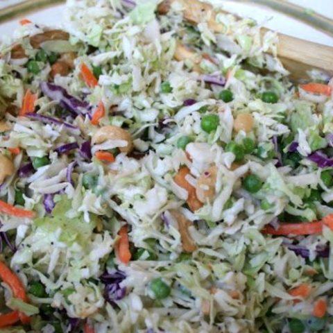 Cashew Coleslaw Salad Recipe
