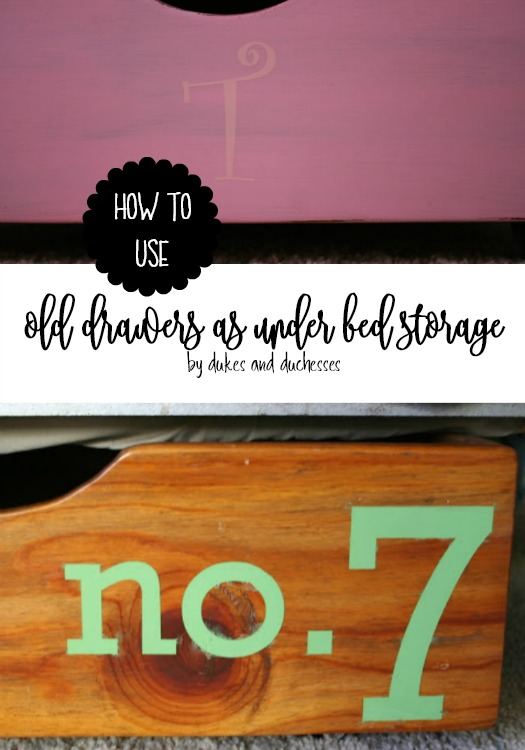 how to use old drawers as under bed storage