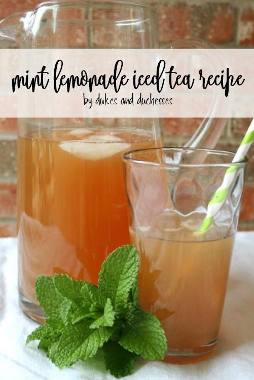 mint lemonade iced tea recipe