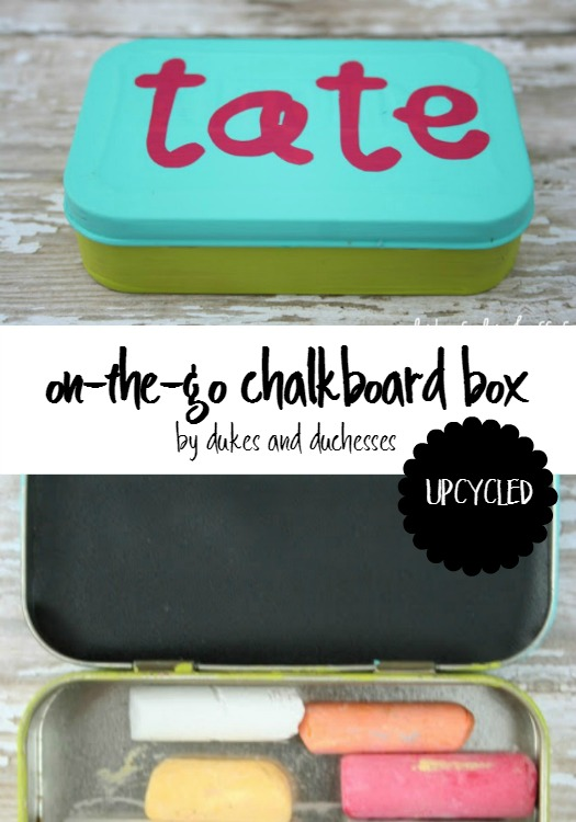 upcycled chalkboard box