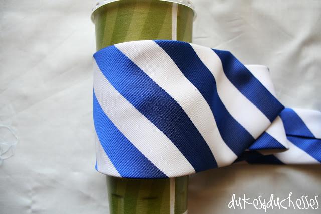 monogrammed necktie coffee cuff
