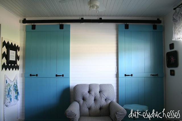 sliding doors in kitchen