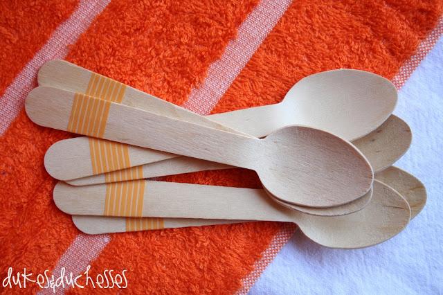 washi tape embellished wooden spoons