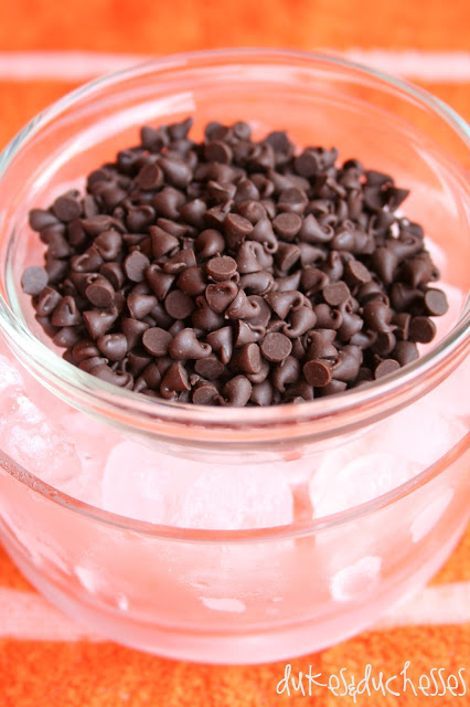 mini chocolate chips for sprinkling