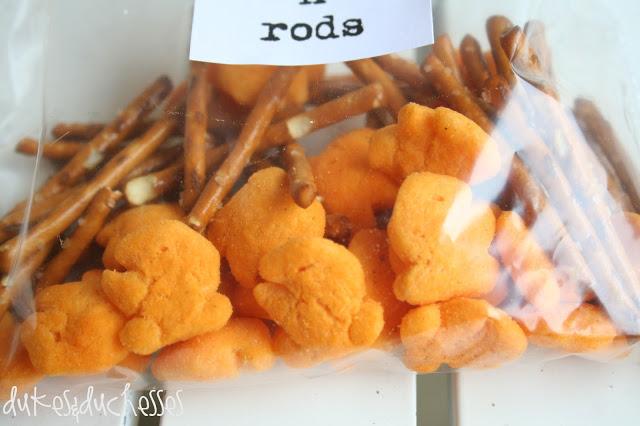 fish and pretzels fish 'n' rod snack