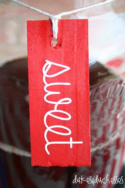 wood shim drink labels