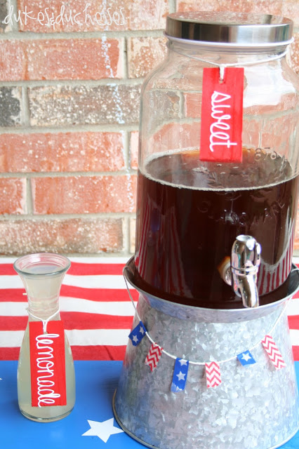 beverage bar for the Fourth of July