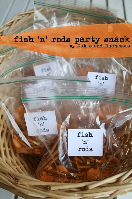 fish 'n' rods party snack