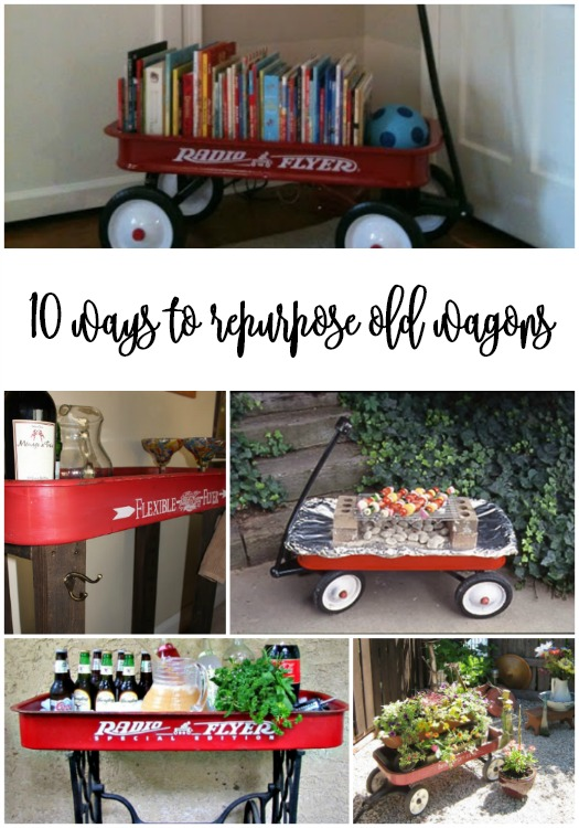 how to repurpose old wagons