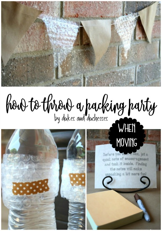 how to throw a packing party when moving