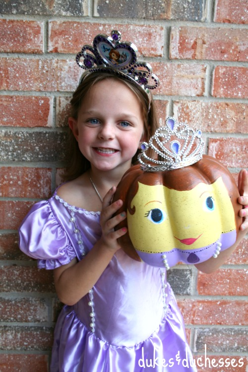 sofia the first painted pumpkin