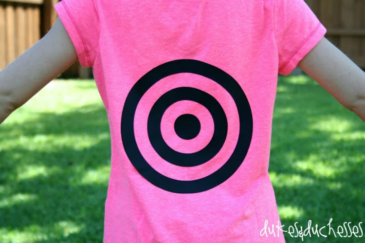 DIY target shirt for water play