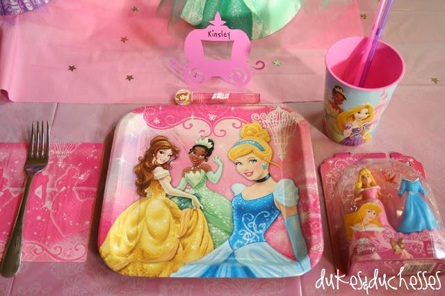 Princess table setting