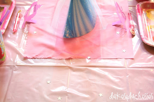 fabric and tulle table runner