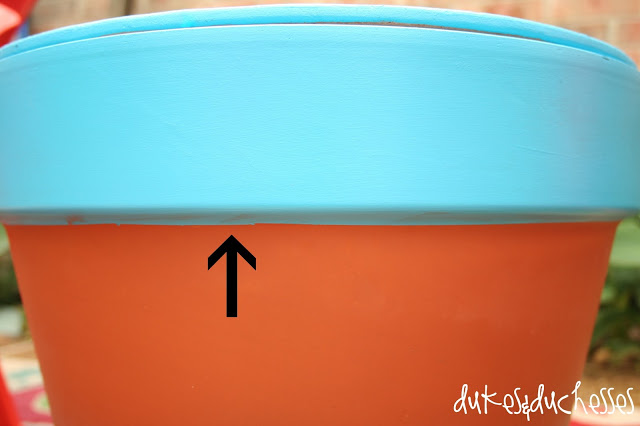 painted terracotta pot table