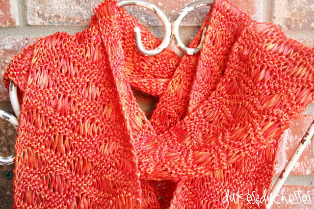 ribbon scarf :: simple knitting project
