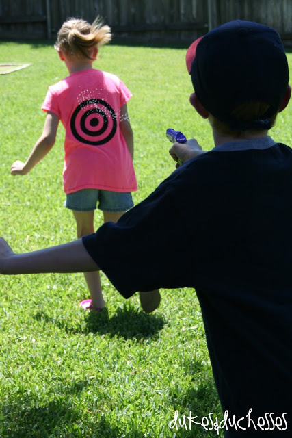 back to basics :: water fun with target t-shirts
