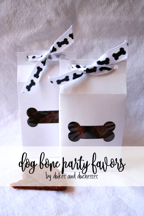 dog bone party favors